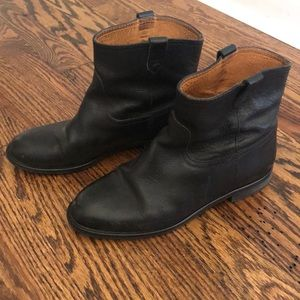 Madewell black biker boots